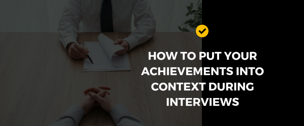 How to say achievements in interviews
